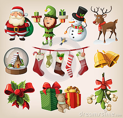 Free Set Of Characters And Decorations Stock Photos - 27832283