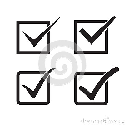 Free Set Of Check Mark, Check Box Stock Images - 50764564