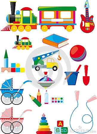 Free Set Of Children Toys Stock Images - 27435864
