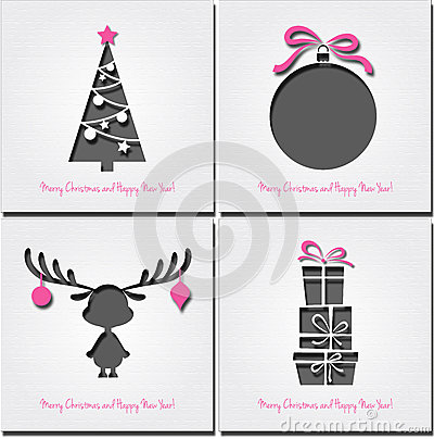 Free Set Of Christmas  Background Royalty Free Stock Image - 27830486