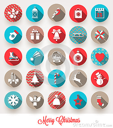 Free Set Of Christmas Flat Icons Stock Photos - 44527633