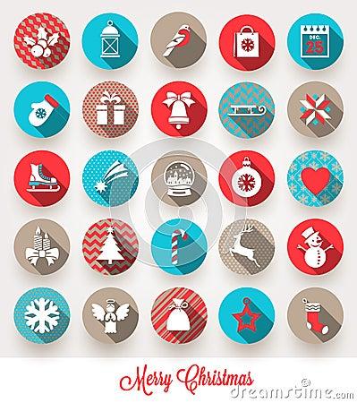 Free Set Of Christmas Flat Icons Stock Photos - 44527633
