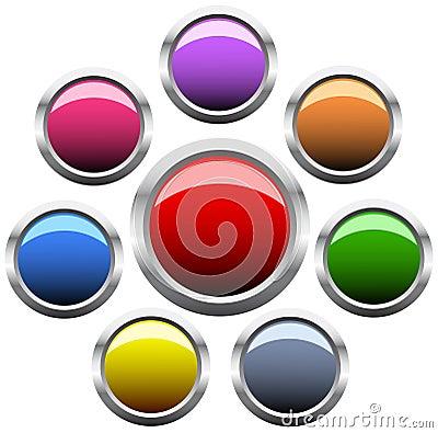Free Set Of Circle Button Stock Image - 8299481