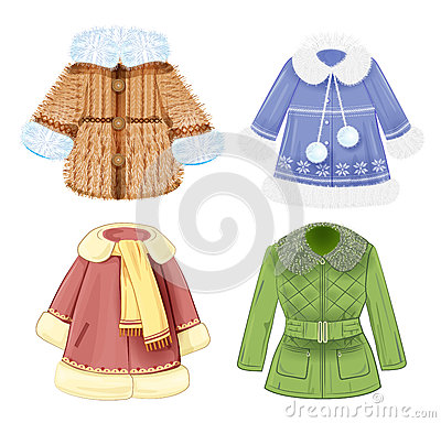 Free Set Of  Clothes For Children Royalty Free Stock Image - 48739076