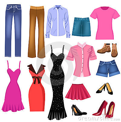 Free Set Of Clothes For Women Royalty Free Stock Image - 11539046