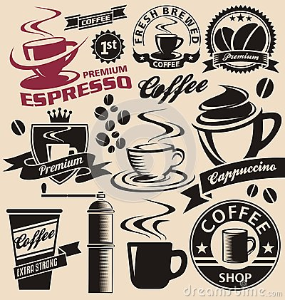 Free Set Of Coffee Symbols And Icons Royalty Free Stock Image - 30682456
