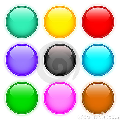 Free Set Of Colored Buttons Royalty Free Stock Image - 7585586