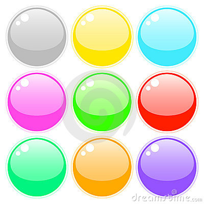 Free Set Of Colored Buttons Stock Photography - 7585632