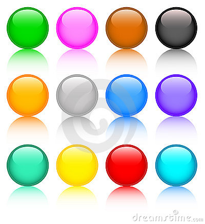 Free Set Of Colored Buttons Stock Images - 7815744