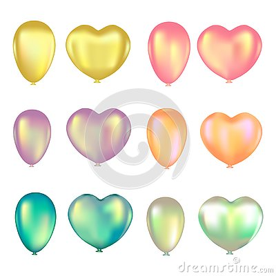 Free Set Of Colorful Air Balloons On A White Background Stock Images - 125353564
