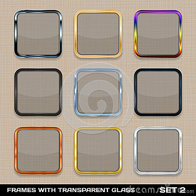 Free Set Of Colorful App Icon Frames Royalty Free Stock Images - 30002939