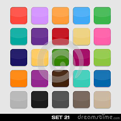 Free Set Of Colorful App Icon Templates, Frames, Backgrounds. Set 21 Royalty Free Stock Images - 32442529