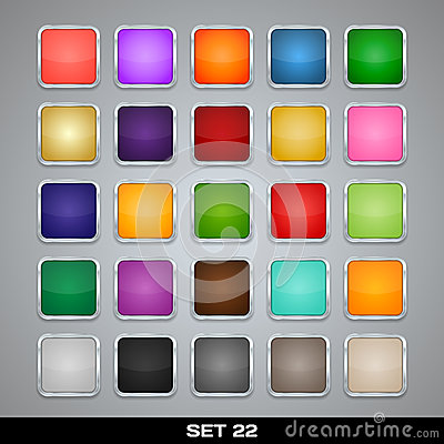 Free Set Of Colorful App Icon Templates, Frames, Backgrounds. Set 22 Stock Photos - 32442393