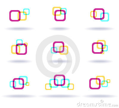 Free Set Of Colorful Logos Royalty Free Stock Photos - 14342718