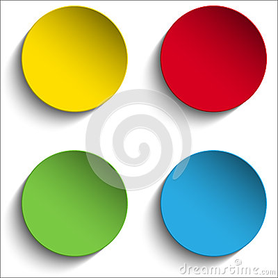 Free Set Of Colorful Paper Circle Sticker Buttons Stock Image - 48402991