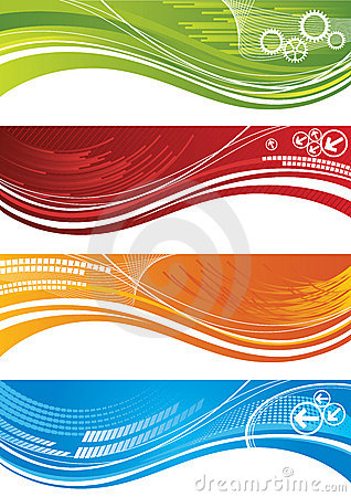 Free Set Of Colourful Technical Banners Royalty Free Stock Photography - 18007627