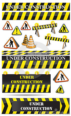 Free Set Of Construction Sighs Royalty Free Stock Photo - 7818145