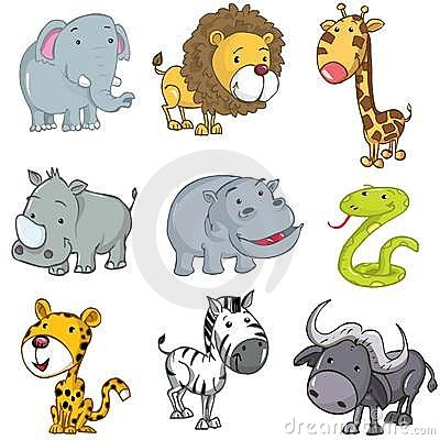 Free Set Of Cute Cartoon Animals Royalty Free Stock Photos - 18820688