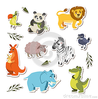 Free Set Of Cute Vector Animals Royalty Free Stock Images - 76779119
