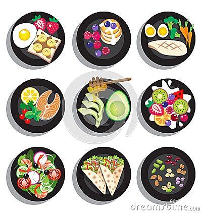 Free Set Of Delicious Clean Food Menu Royalty Free Stock Photos - 59290788
