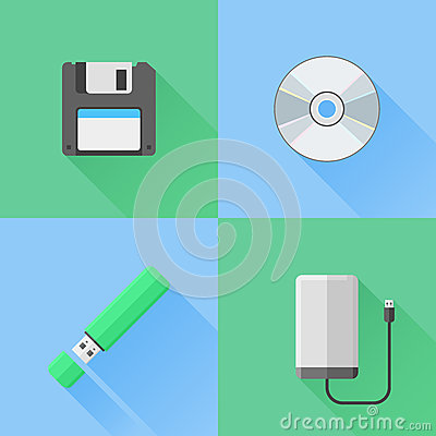 Free Set Of Digital Data Devices Flat Icons Royalty Free Stock Photos - 58654208