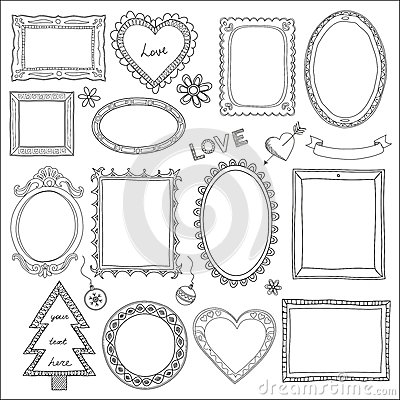 Free Set Of Doodle Frames And Elements Royalty Free Stock Photo - 29287505