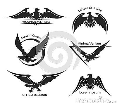 Free Set Of Eagle Logo Royalty Free Stock Photo - 50591025