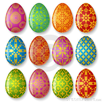 Free Set Of Easter Eggs Royalty Free Stock Images - 8376869