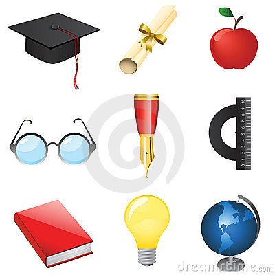 Free Set Of Education Vector Royalty Free Stock Photography - 4469777