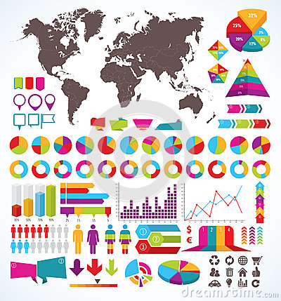 Free Set Of Elements For Infographic Stock Image - 33752971