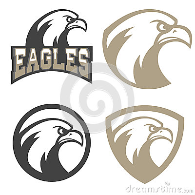 Free Set Of Emblems With Eagles Head. Sport Team Mascot. Royalty Free Stock Photos - 76639268