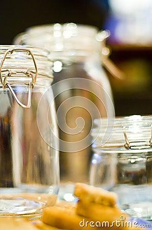 Free Set Of Empty Glass Jars Royalty Free Stock Photo - 4022865
