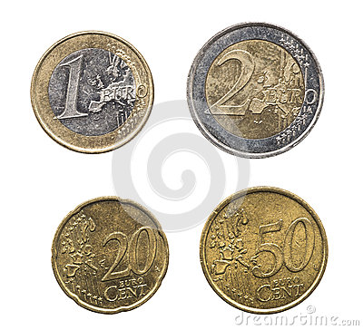 Free Set Of Euro Coins In High Resolution Royalty Free Stock Images - 40267709