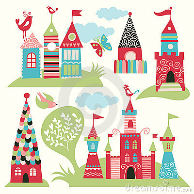 Free Set Of Fairy Castles Royalty Free Stock Photography - 18283657