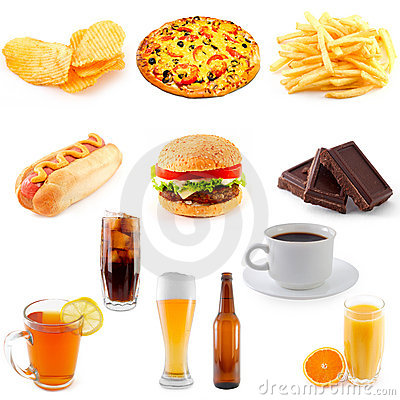 Free Set Of Fast Food Stock Photography - 9892492