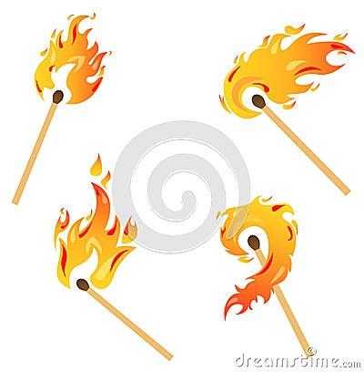Free Set Of Flames Stock Photos - 10423053