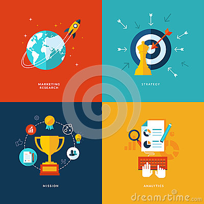 Free Set Of Flat Design Concept Icons For Web And Mobil Stock Photo - 37974140
