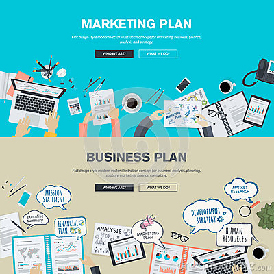 Free Set Of Flat Design Illustration Concepts For Business Plan And Marketing Plan Stock Image - 50888071