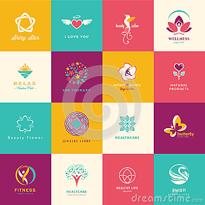 Free Set Of Flat Icons For Beauty, Healthcare, Wellness Royalty Free Stock Photos - 35663488