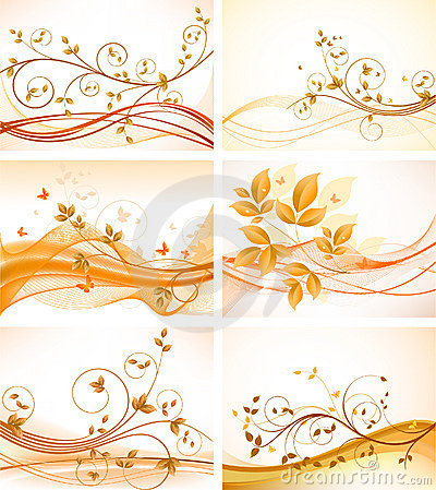 Free Set Of Floral Backgrounds Stock Images - 14673984