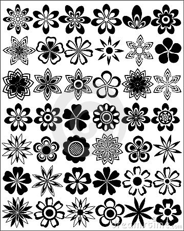 Free Set Of Flowers Royalty Free Stock Photos - 2384028