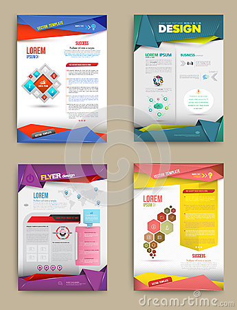 Free Set Of Flyer, Brochure Design Templates. Royalty Free Stock Photos - 50787858
