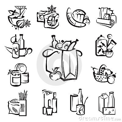 Free Set Of Food And Goods Icons Royalty Free Stock Image - 19629836