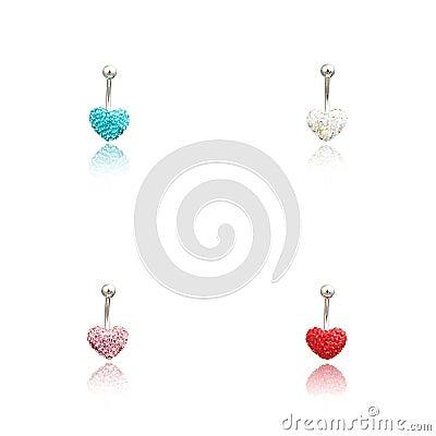 Free Set Of Four Fashion Piercing Royalty Free Stock Photo - 73614255