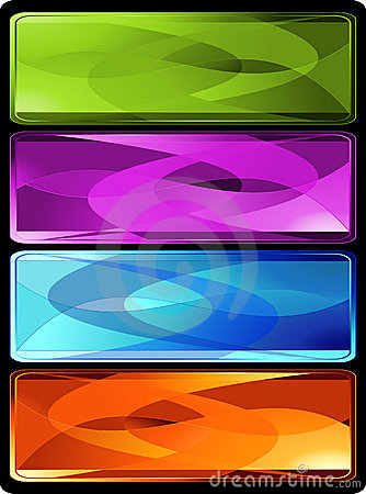 Free Set Of Four Horizontal Colored Banners Royalty Free Stock Photo - 10346045