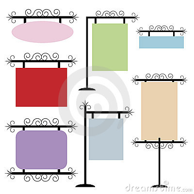 Free Set Of Frames Or Signs Royalty Free Stock Photo - 16573065