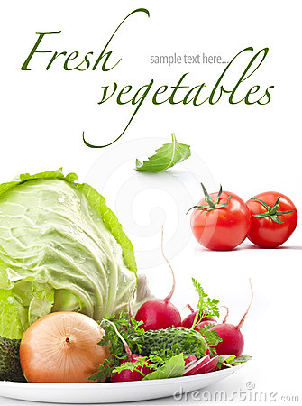 Free Set Of Fresh Vegetables Stock Images - 24558334