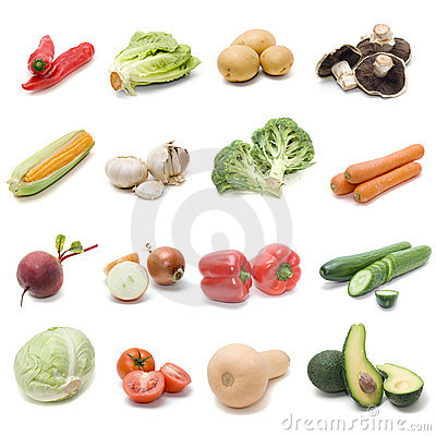 Free Set Of Fresh Vegetables Royalty Free Stock Images - 5267569