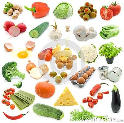 Free Set Of Fresh Vegetables Stock Image - 7704631