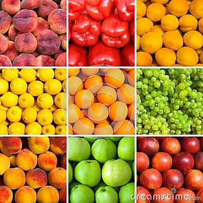 Free Set Of Fruit Backgrounds Royalty Free Stock Image - 10641486